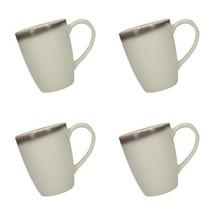 Creative Tops 5234371 Drift Ombre Grey Mugs (Set of 4), Blanc/Gris  - $43.67