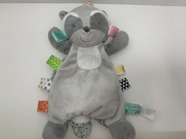 Taggies Harley raccoon gray plush security blanket baby toy lovey - $14.84