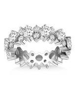 14k White Gold Ornamental Round Diamond Eternity Ring - $9,900.00+
