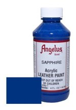 Angelus Acrylic Leather Paint-4oz.-Sapphire - $8.53