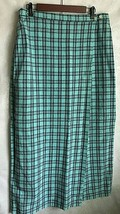 Sonoma Jean Co. Skirt Women Large Maxi Linen Cotton Plaid Wrap Skirt Tur... - $19.55