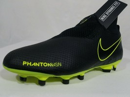 Nike Phantom Vision Pro FG Soccer Cleats Sz 8 Women's Black Men's 6.5 AO3266-007 - $44.99