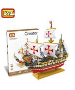 1 pc LOZ Santa Maria Columbus Fleet Sailing Ship Building Blocks - $125.95
