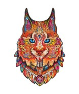 """Unidragon Wooden Jigsaw Puzzles """"Gentle Lynx"""" Wooden Puzzles for Adults - M[M... - $59.99"""