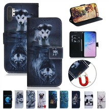For Samsung S20+ A01 A21 Note 10 Lite S10 Plus Painted Flip Leather Wallet Case - $61.50