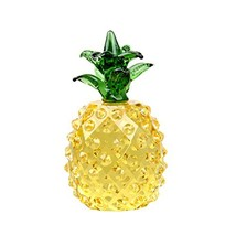 LONGWIN Glass Pineapple Figurine Paperweight Optinal Crystal Prism Pinea... - $20.34