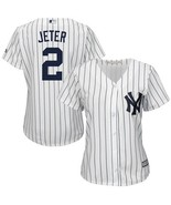 Derek Jeter #2 Yankees Pinstripe Jersey Women's All Custom Embroidered A... - $54.90