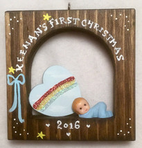 Rainbow First Christmas Baby Personalized Ornament - $16.00