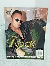 The Rock Special Edition Magazine WWF WWE 2000 With Poster - $14.84