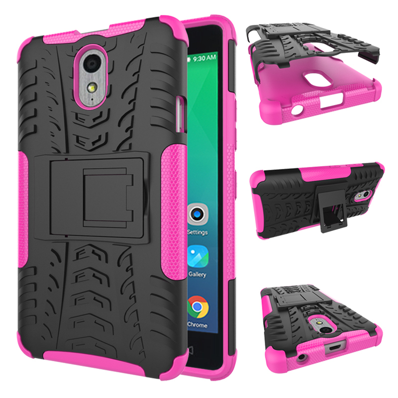 Y protection rugged dual layer hybrid shockproof case for lenovo p1m hot pink p20160114075845233