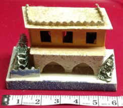 Vintage Christmas House Train Yard Putz Japan White Italianate Hacienda ... - $59.99