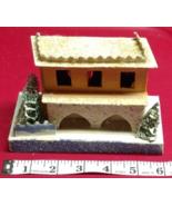 Vintage Christmas House Train Yard Putz Japan White Italianate Hacienda ... - $59.99