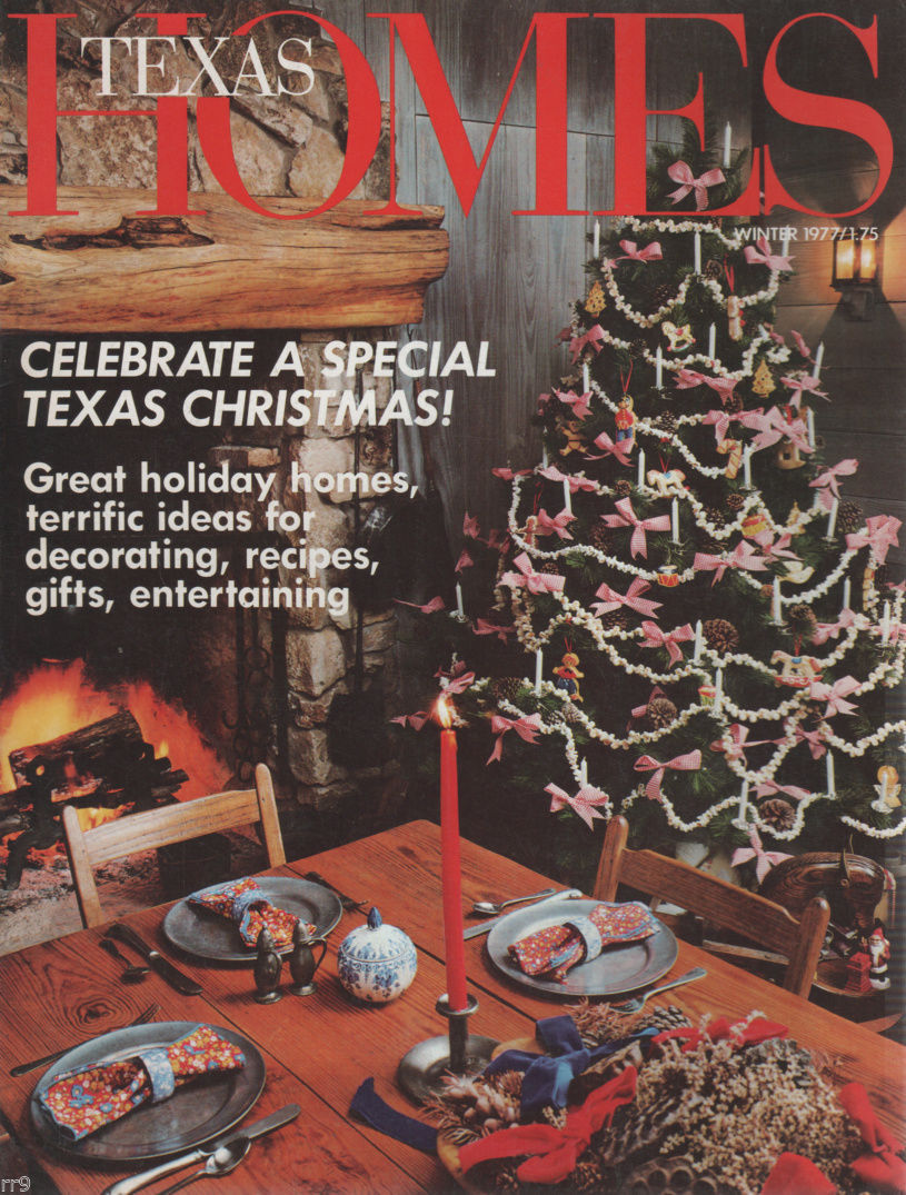 Primary image for TEXAS HOMES Winter 1977 Celebrate A Special Texas Christmas