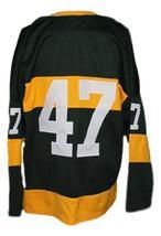 Custom Name # Toledo Mercurys Retro Hockey Jersey New Black Any Size image 2