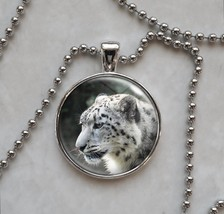 Snow Leopard Large Cat Mountain Wild Animal Pendant Necklace - £10.64 GBP+