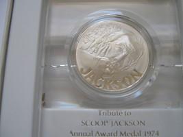 Israeli , Scoop Jackson ,1974 ,Sterling Silver Proof , Medal - $67.00