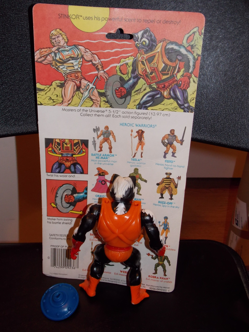 Vintage 1984 Masters Of The Universe Stinkor Figure Complete With Cardback