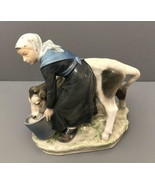 Early Royal Copenhagen figurine Girl Feeding Calf Christian Tomsen  #779 - $250.00