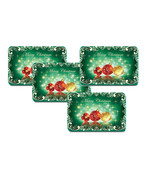 Merry Christmas Green Plate Mat Set Of 4 - $39.99