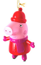 It's Peppa Pig all bundled Up for Winter on Ice Skates-  Christmas Ornament - $8.54