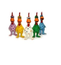 Globkens Latex Chicken for Dog Toy - Each - 11.5 in - Assorted Colors - ... - $14.65