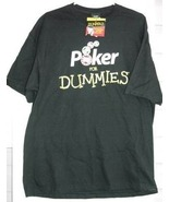 Poker for Dummies Tee Shirt Mens XL Black T Cotton Chips Wiley NWT - $9.93