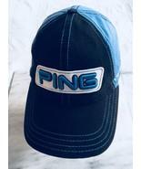 PING Tour Structured Hat Adjustable Mens Golf Cap Blue Black. - $24.58