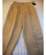 WOMEN VIA SETA SANDRA HARRIS GOLD DRESS PANTS NWT SZ12 - $24.50