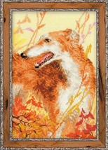 Cross Stitch Kit Riolis Hunting Greyhound - $28.00