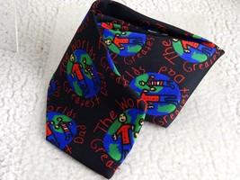 Ralph Marlin  Men Accessories Silk World Great Dad Black Blue Red Tie  - $11.30