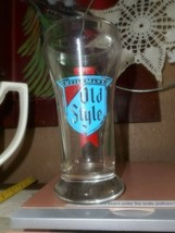 Heileman's Old Style 6oz Beer Glass Pure Genuine In Red Old Style in Blue - $9.49