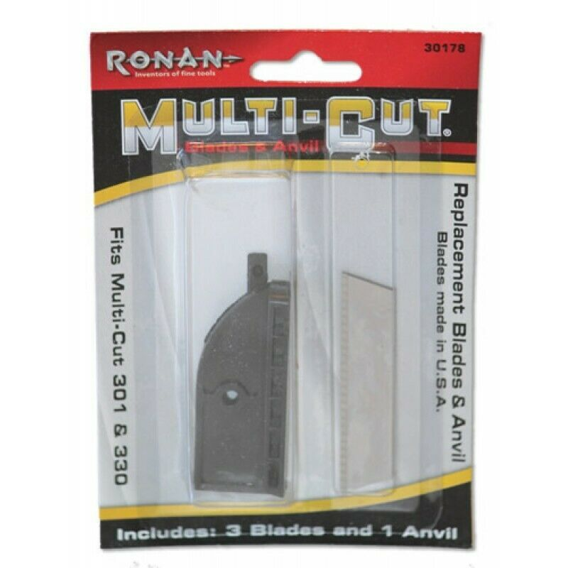 "Primary image for Ronan Craftsman 2-1/2"" Multi-Cut Handi-Cut Replacement Anvil & Blades Case of 12"