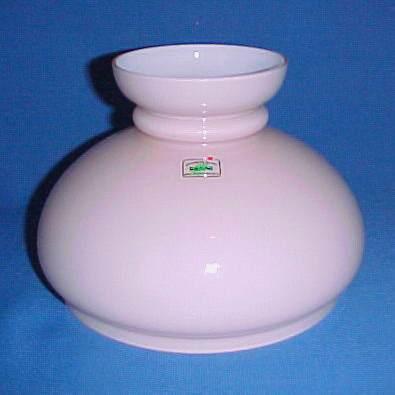 Cased Glass 7 in Pink Student Kerosene Oil Lamp Shade