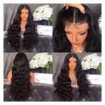 Black Beauty Wig 100% Brazilian Real Human Hair Lace Front Wigs with Bab... - $183.26