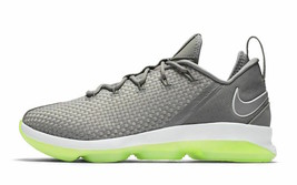 NIke Lebron XIV 14 Low Dunkman Grey/Green/White 878636 -005 Sneakers - $129.99