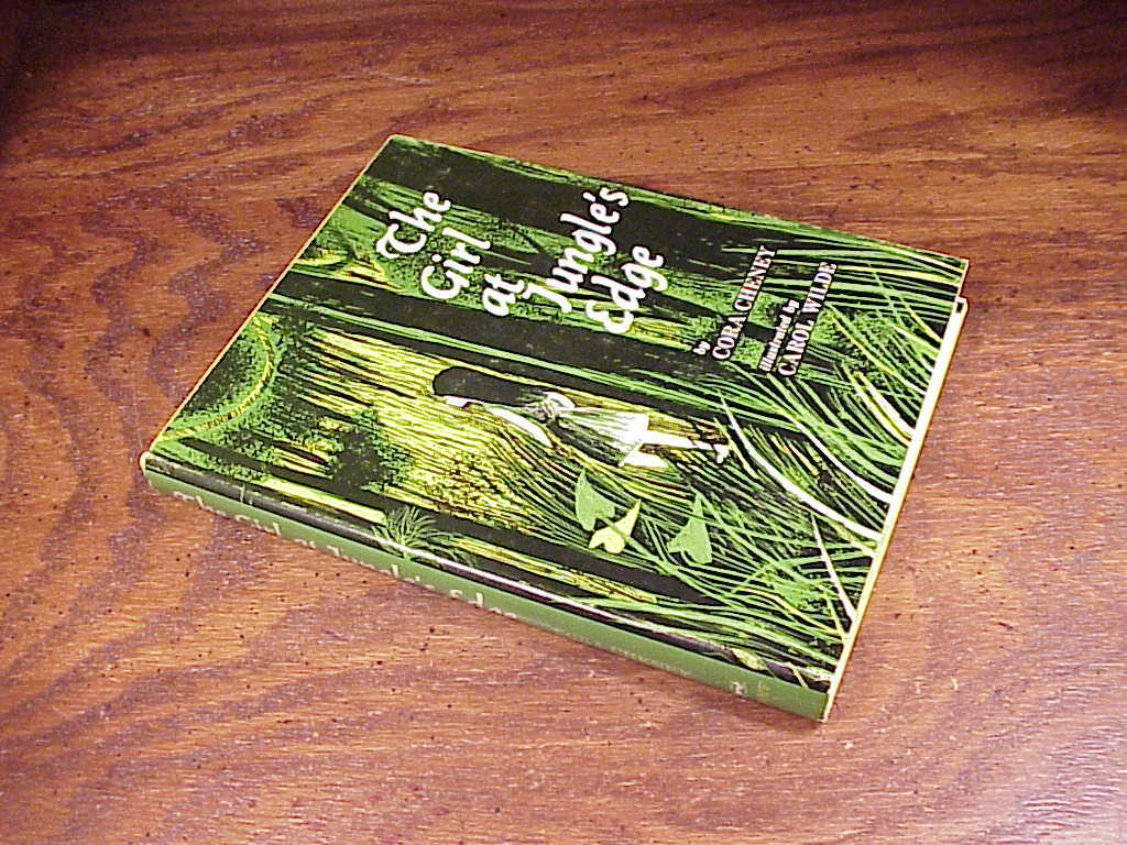 The Girl at Jungle's Edge Children's Hardback Book by Cora Cheneu, first edition