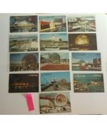 "WF6 Lot of 13 Expo 67 Montreal World's Fair Chrome Postcards ""EX"" Series NM - $8.00"