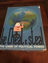 LIE CHEAT & STEAL THE GAME OF POLITICAL POWER 1971 REISS GAMES - $30.00