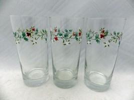 Pfaltzgraff Winterberry pattern - set/lot of 3 water glasses/Tumblers - EUC - $13.86