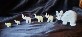 Estate Sale - Collection of Marble Elephant Family - $30.00