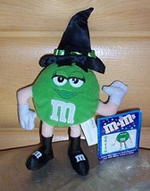 """M & M's Candy Green Plush 10"""" Black Hat & Boots Witch with Smile & Eyela... - $5.55"""
