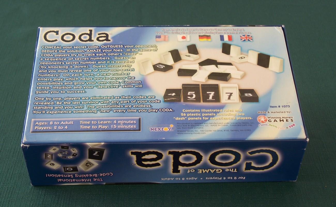 Game Of Coda Code Breaking Sensation Complete VGC 2003