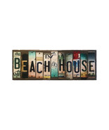 Beach House License Plate Strip Novelty Wood Sign WS-017 - $67.99