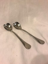 Towle Irresistible Collection Heart Demitasse Spoons Set of 2 Stainless ... - $14.01