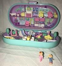 Vintage Polly Pocket Babysitting Stamper Stampin Playground Trike & 2 Dolls - $44.54
