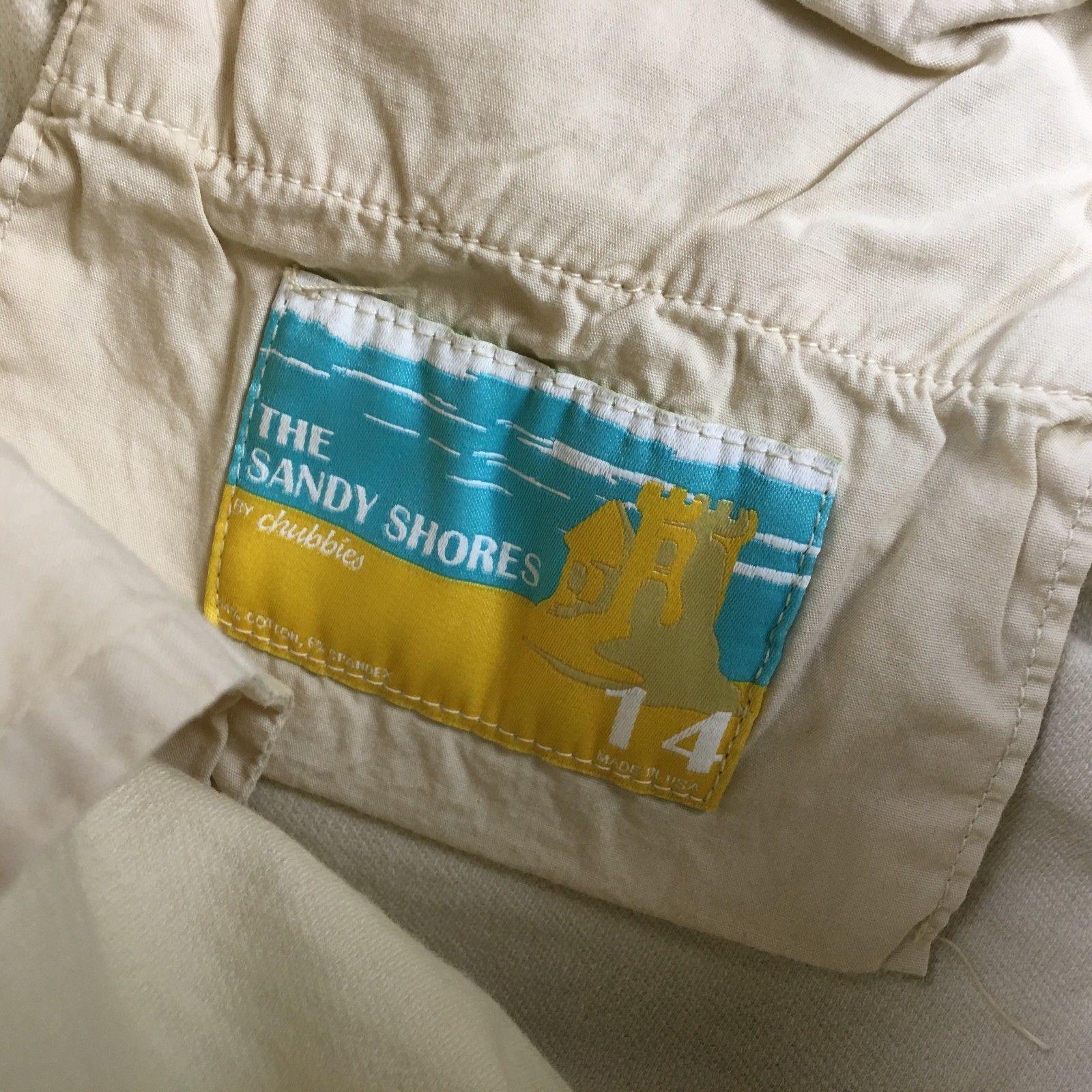 Chubbies Womens White Sandy Shores Shorts Shorts 14 C05:02163