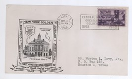 1898 - 1948 New York Golden Jubilee Cover! Federal Hall Postmark Cancel ... - $3.99