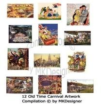 Oldtimecarnivalartwork digitalcollage cov thumb200