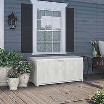 All Weather Outdoor Large Storage Shed Box Modern Storage Furniture 99 G... - $186.25