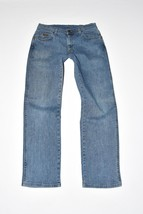 "Blue Denim WRANGLER TEXAS STRETCH Straight Leg Zip Men's Jeans Size W31""... - $34.56"